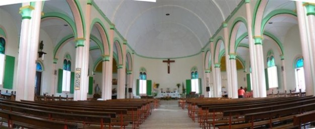 beautiful interior of St. parick's church in GRANDBAY