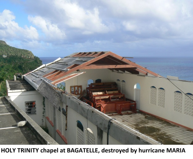 Bagatelle chapel post hurricane Maria