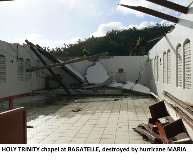 destroyed chapel at Bagatelle