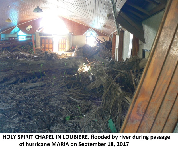 destroyed Loubiere Chapel September 2017