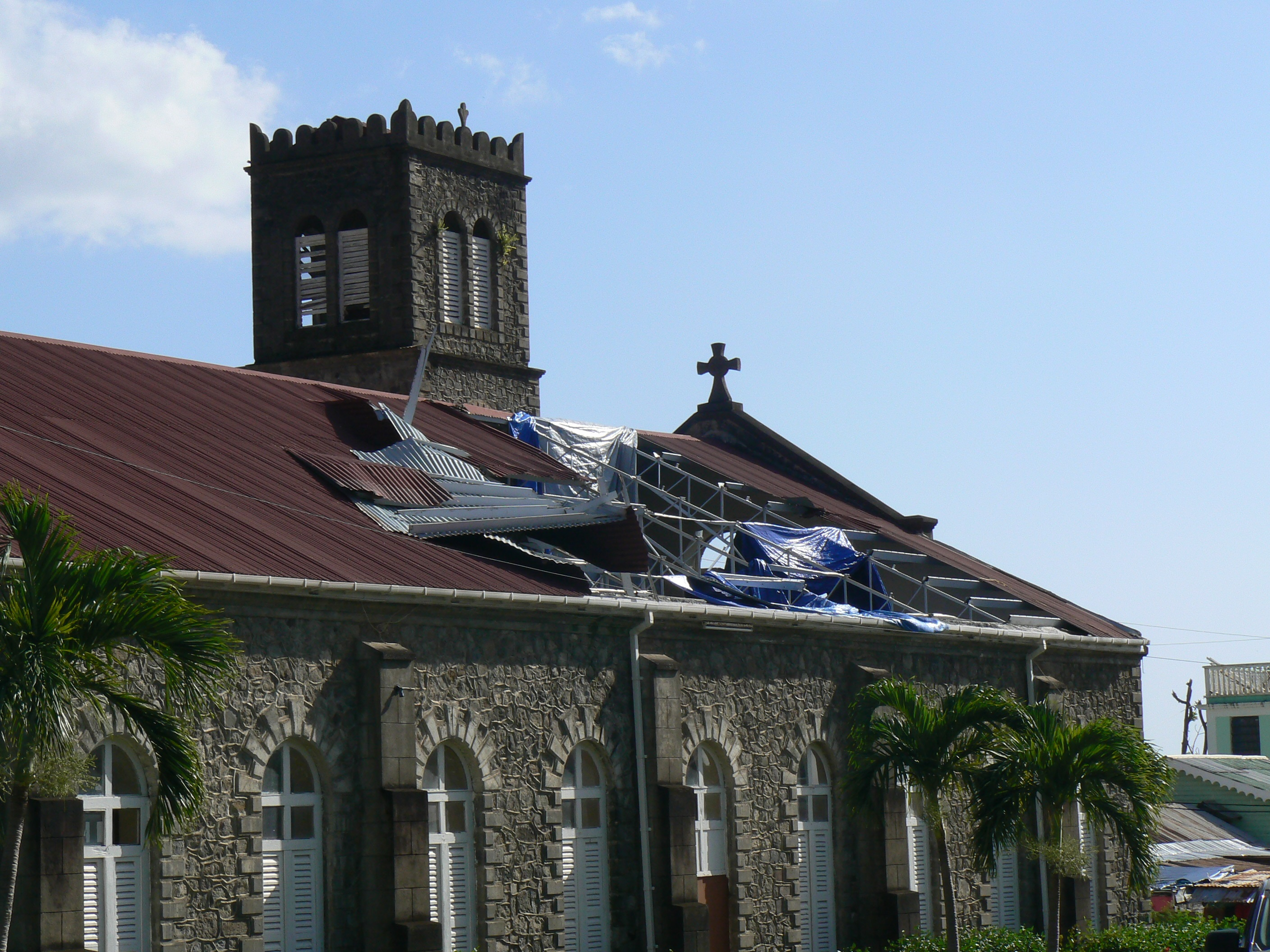 damage to St. peter church in COLIHAUT- DOMINICA